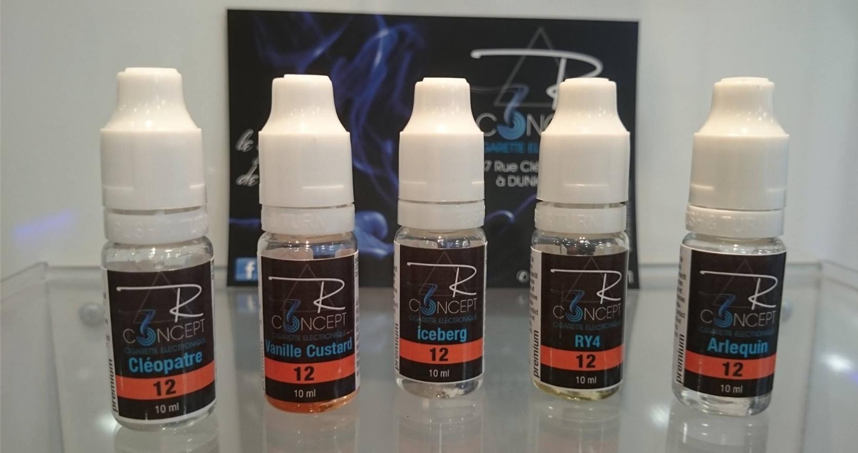 la gamme E liquides R concept développée par AEROMA